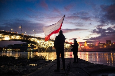 Warszawa 11 listopada - plakat premium wymiar do wyboru: 30x20 cm