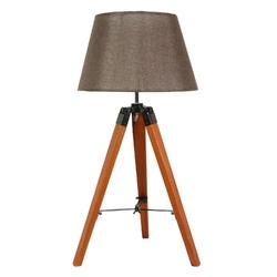 Lampka na brązowym trójnogu ze stożkowym abażurem lugano candellux 41-31211