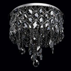Lampa sufitowa z dymnych kryształów, 12-żarówek, chromowana podstawa chiaro 437010312