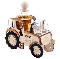 Komplet 7-częściowy karafka i kieliszki traktor z grawerem - wliczony w cenę