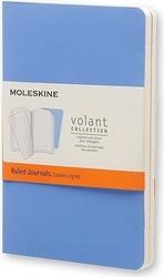 Zeszyty moleskine volant 2 szt. p w linie niebieskie