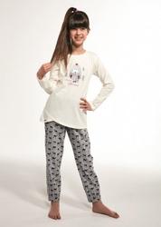 Piżama dziewczęca cornette young girl 031111 bird dłr 134-164