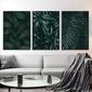 Zestaw trzech plakatów - greenery design , wymiary - 40cm x 50cm 3 sztuki, kolor ramki - biały