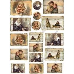 Papier ryżowy decomania 35x50 cm dzieci obrazki