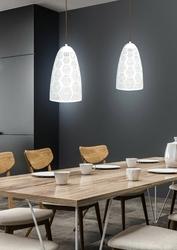 Lampa wisząca ażurowy stożek w kolorze białym bene candellux 31-70593