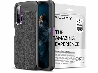 Etui Alogy Leather Armor do Huawei Honor 20 Pro czarne + szkło Alogy