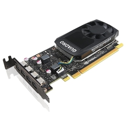 Lenovo karta graficzna thinkstation nvidia quadro p1000 4 gb gddr5 mini dp x 4 z ramka wysokoprofilowa 4x60n86661 p320,p330,p41