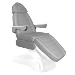 Elektryczny fotel kosmetyczny lux 273b 3 silniki szary