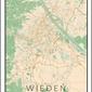 Wiedeń mapa kolorowa - plakat