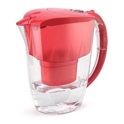 Dzbanek filtrujący wodę z 2 wkładami aquaphor jasper b100-25 koralowy 2,8 l