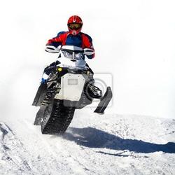 Fototapeta impennata con motoslitta