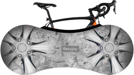 Elastyczny, uniwersalny pokrowiec rowerowy z systemem łatwego zakładania i etui transportowym