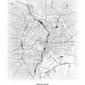 Tokio - Czarno-biała mapa