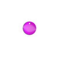 Purpurowa płytka tesli - 2,7 cm wisior osobisty energetyzator