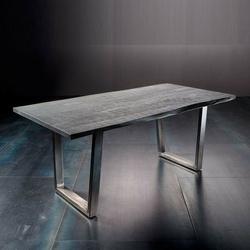 Stół catania obrzeża ciosane szary piaskowany, 200x100 cm grubość 5,5 cm