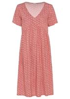 Sukienka bonprix rabarbarowy z nadrukiem