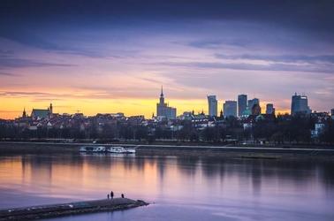 Warszawa panorama - plakat premium wymiar do wyboru: 59,4x42 cm