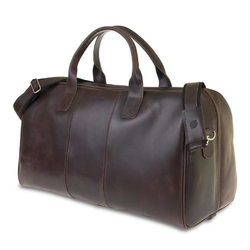 Skórzana torba męska podróżna brodrene r10 ciemnobrązowa - c.brązowy