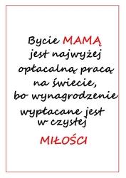 Bycie mamą - plakat wymiar do wyboru: 42x59,4 cm