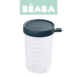 Beaba pojemnik słoiczek szklany z hermetycznym zamknięciem 400 ml dark blue