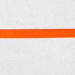 Tasiemka atłasowa 6mm - pomarańczowy neon - pomneo