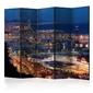 Parawan 5-częściowy - rozświetlona barcelona ii room dividers