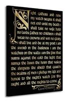 Game of thrones season 3 - nightwatch oath - obraz na płótnie