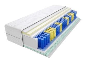 Materac kieszeniowy tuluza max plus 145x210 cm średnio twardy lateks visco memory