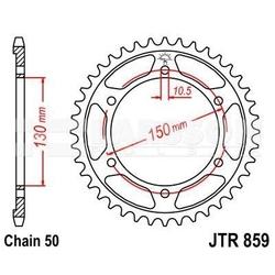 Zębatka tylna stalowa jt 859-40, 40z, rozmiar 530 2300591 yamaha xjr 1200