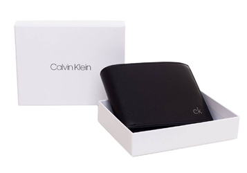 Męski portfel calvin klein smooth ck 5 cc coin - k50k504296-001