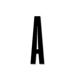 Litera czarna akrylowa 8 cm Design Letters A