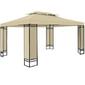 Pawilon 3x4 namiot ogrodowy stelaż metal kremowy - kremowy