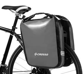 Sakwy rowerowe na bagażnik crosso dry big 60l - szare