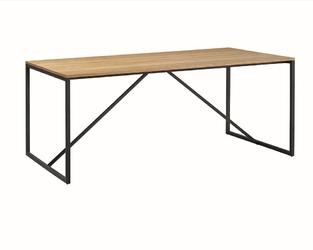 Stół z fornirowanym blatem w stylu industrialnym loft 180