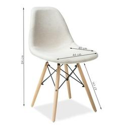Krzesło tapicerowane celine beżowe
