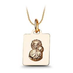 Staviori medalik. żółte złoto 0,585. wysokość 16 mm. szerokość 13 mm.