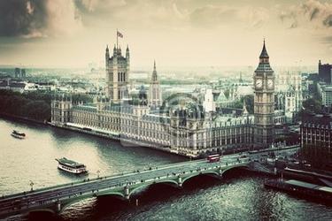 Fototapeta londyn, wielka brytania. rocznik wina