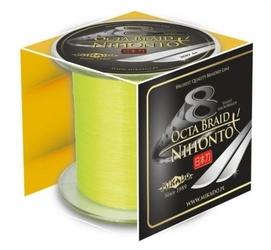 Plecionka mikado x8 nihonto octa braid fluo żółta 0,26mm 300m 22,60kg