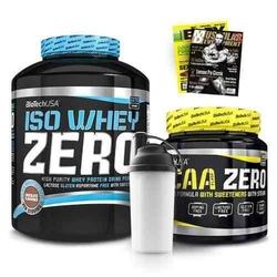 Biotech usa iso whey zero - 2270g + bcaa zero - 360g + shaker + gazeta gratis