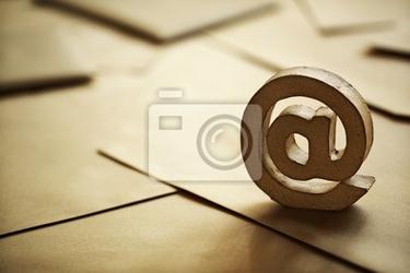 Naklejka e-mail symbol @