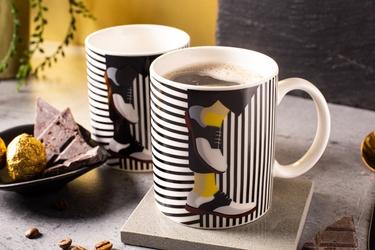 Kubek do kawy i herbaty porcelanowy altom design modern man 300 ml, dekoracja d  zmieniająca kolor