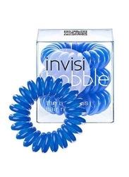 Invisibobble navy blue - niebieskia gumka do włosów x 3 sztuki w opakowaniu