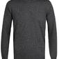 Elegancki grafitowy sweter prufuomo originale z delikatnej wełny merynosów z okrągłym kołnierzem s