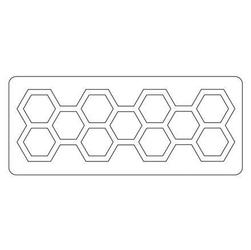 Wykrojnik Sizzix - Frameworks - plastry miodu - PMI