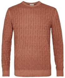 Sweter z fakturą czerwony s