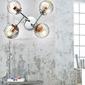 Lampa sufitowa cztery szklane kule, chromowana podstawa best candellux 34-67265
