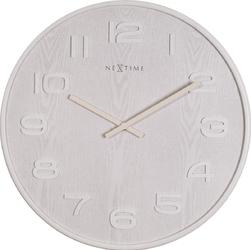 Zegar ścienny wood wood nextime 35 cm, biały 3096 wi