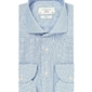 Błękitna koszula męska taliowana, slim fit travel shirt wrinkle free 38
