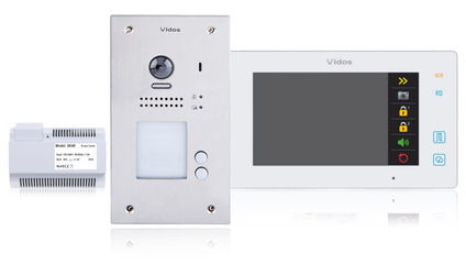 Wideodomofon 2-rodzinny VIDOS DUO 2 x M1021W  S1202A - Szybka dostawa lub możliwość odbioru w 39 miastach