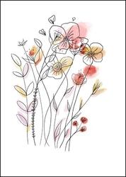 Polne kwiaty - plakat wymiar do wyboru: 29,7x42 cm